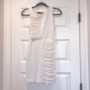 BCBG white chiffon dress